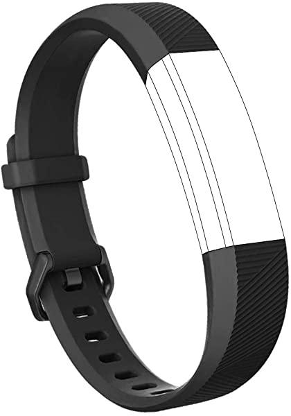 Fitbit Alta Fitbit Alta HR 交換バンド TPU素材 柔らかいシリコン サイズ調整可能 穴留め式 男女兼用 ブラック L 送料無料